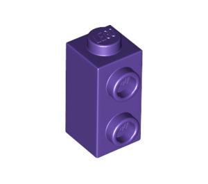 LEGO Dark Purple Brick 1 x 1 x 1.3 with Two Side Studs (32952)