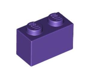 LEGO Dark Purple Brick 1 x 2 (3004)