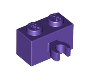 LEGO Dark Purple Brick 1 x 2 with Vertical Clip (Open 'O' clip) (42925)