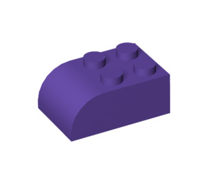 LEGO Dark Purple Brick 2 x 3 with Curved Top (6215)