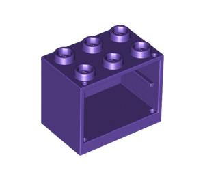 LEGO Dark Purple Cupboard 2 x 3 x 2 with Recessed Studs (92410)