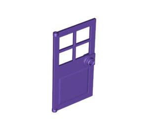 LEGO Dark Purple Door 1 x 4 x 6 with 4 Panes and Stud Handle (60623)