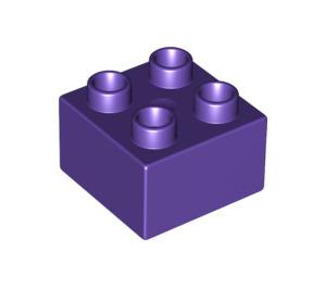 LEGO Dark Purple Duplo Brick 2 x 2 (3437)