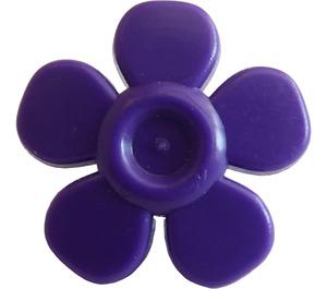 LEGO Dark Purple Flower with Smooth Petals (93080)