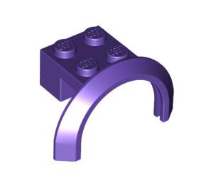 LEGO Dark Purple Mudguard with Round Arch 4 x 2 1/2 x 2 (50745)