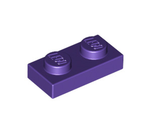 LEGO Dark Purple Plate 1 x 2 (3023)