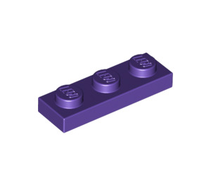 LEGO Dark Purple Plate 1 x 3 (3623)