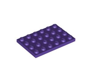 LEGO Dark Purple Plate 4 x 6 (3032)