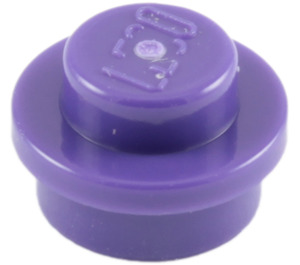 LEGO Dark Purple Round Plate 1 x 1 (6141)