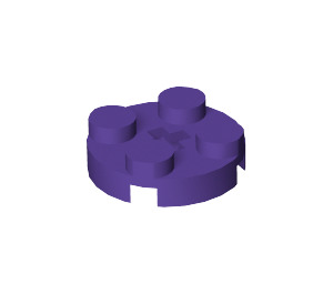 LEGO Dark Purple Round Plate 2 x 2 with Axle Hole (with '+' Axle Hole) (4032)