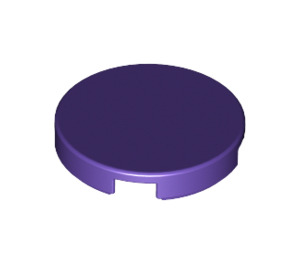 LEGO Dark Purple Round Tile 2 x 2 with Bottom Stud Holder (14769)