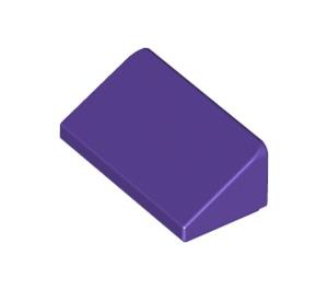 LEGO Dark Purple Slope 1 x 2 (31°) (85984)