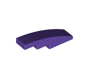 LEGO Dark Purple Slope 1 x 4 Curved (11153)