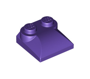 LEGO Dark Purple Slope 2 x 2 Curved with Curved End (47457)