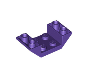 LEGO Dark Purple Slope 45° 4 x 2 Double Inverted with Open Center (4871)