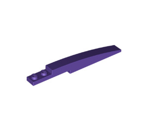 LEGO Dark Purple Slope Curved 8 x 1 with Plate 1 x 2 (13731)