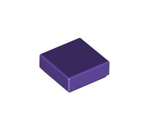 LEGO Dark Purple Tile 1 x 1 with Groove (3070)