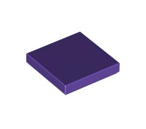 LEGO Dark Purple Tile 2 x 2 with Groove (3068)