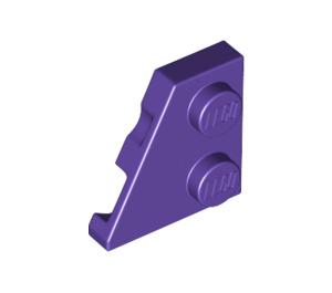 LEGO Dark Purple Wedge Plate 2 x 2 (27°) Left (24299)
