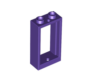 LEGO Dark Purple Window 1 x 2 x 3 without Sill (60593)