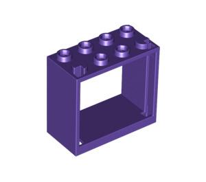 LEGO Dark Purple Window 2 x 4 x 3 with Square Holes (60598)