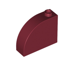 LEGO Dark Red Brick 1 x 3 x 2 Curved Top (33243)