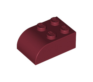 LEGO Dark Red Brick 2 x 3 with Curved Top (6215)