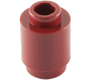 LEGO Dark Red Brick Round 1 x 1 with Open Stud (3062)