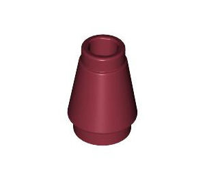 LEGO Dark Red Cone 1 x 1 with Top Groove (59900)