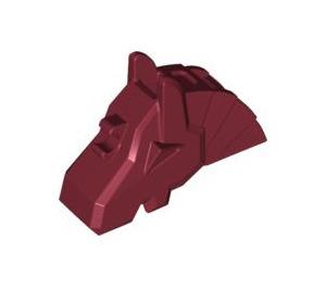 LEGO Dark Red Horse Battle Helmet (Angular) (48492)
