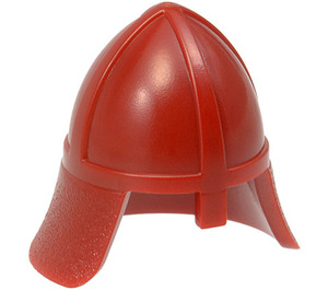 LEGO Dark Red Knights Helmet with Neck Protector (3844)