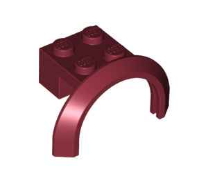 LEGO Dark Red Mudguard with Round Arch 4 x 2 1/2 x 2 (50745)
