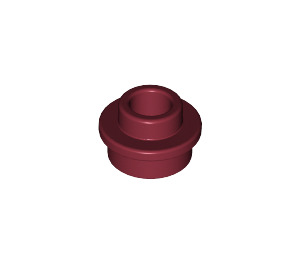 LEGO Dark Red Plate 1 x 1 Round with Open Stud (28626 / 85861)