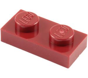 LEGO Dark Red Plate 1 x 2 (3023)