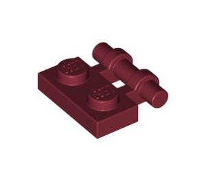LEGO Dark Red Plate 1 x 2 with Handle (Open Ends) (2540)