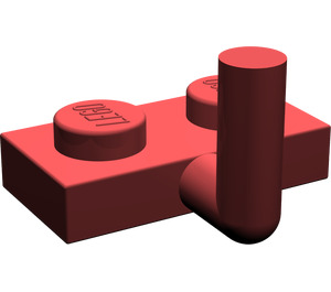 LEGO Dark Red Plate 1 x 2 with Hook (5mm Horizontal Arm)
