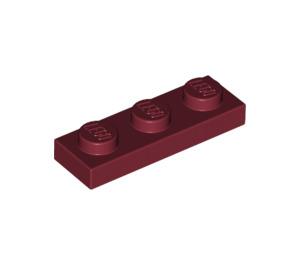 LEGO Dark Red Plate 1 x 3 (3623)