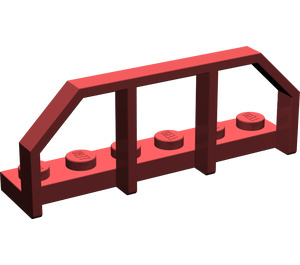 LEGO Dark Red Plate 1 x 6 with Train Wagon End (6583)