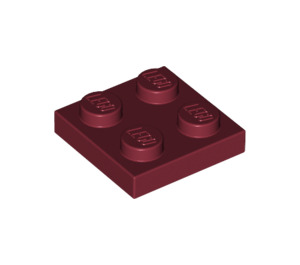 LEGO Dark Red Plate 2 x 2 (3022)