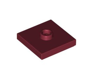LEGO Dark Red Plate 2 x 2 with Groove and 1 Center Stud (87580)