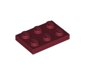 LEGO Dark Red Plate 2 x 3 (3021)