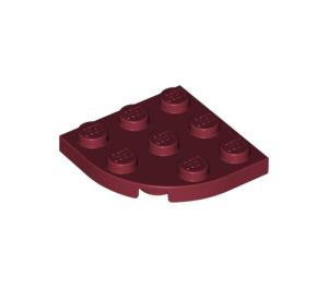 LEGO Dark Red Plate 3 x 3 Corner Round (30357)