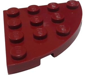 LEGO Rouge foncé assiette 4 x 4 Rond Coin (30565)