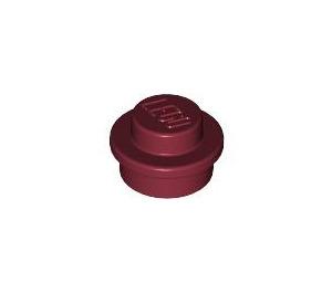 LEGO Dark Red Round Plate 1 x 1 (6141)