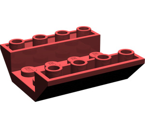 LEGO Dark Red Slope 45° 4 x 4 Double Inverted with Open Center (No Holes) (4854)