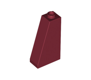 LEGO Dark Red Slope 75 2 x 1 x 3 with Completely Open Stud (4460)