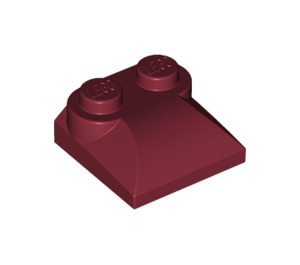 LEGO Dark Red Slope Curved 2 x 2 with Curved End (47457)