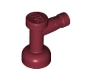 LEGO Dark Red Tap 1 x 1 with Hole in End (4599)