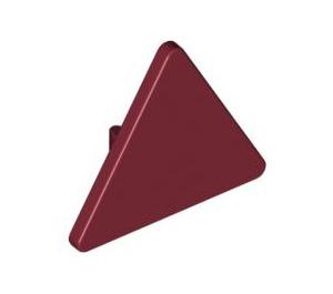 LEGO Dark Red Triangular Sign with Clip (30259)