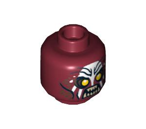 LEGO Dark Red Uruk-Hai Minifigure Head (Recessed Solid Stud) (10756)